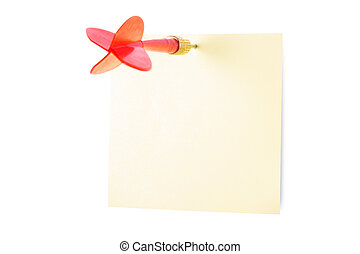 Dart Arrow and Sticky Post - Red, plastic dart arrow and...