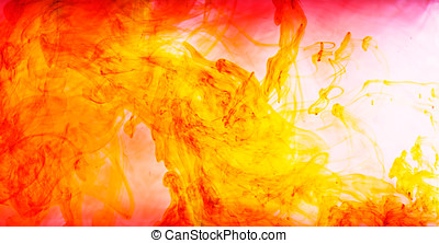 Dynamic background of swirling ink - Dynamic abstract...