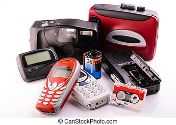 obsolete items - old obsolete items collected in a group on...