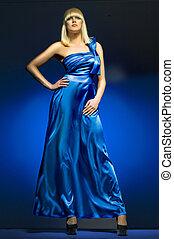Blue dress - girl in a dress