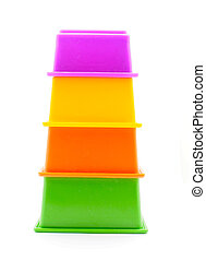 Children's pyramid on a white background