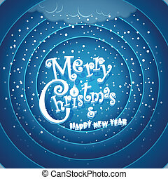 Retro cartoon Christmas background Merry Christmas and Happy...