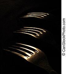 fork on a dark background
