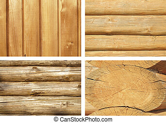 Timbered wall. Set