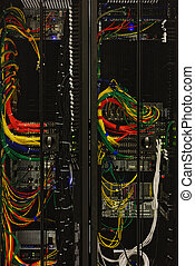 Network cables of a server