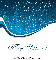 Christmas card with winter evening
