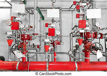 Large CO2 fire extinguishers in a power plant - Large CO2...