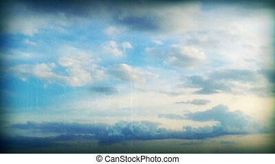 Vintage Time Lapse Clouds Abstract CG and Footage Mixed...