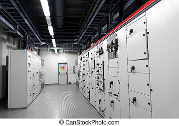 Control room of a power plant - Control room of a thermal...