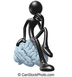 On Your Mind Thinker - 3D Concept And Presentation Figure