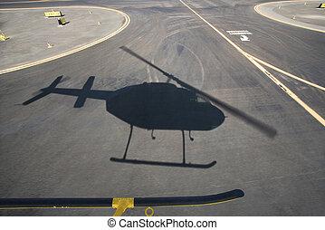 ヘリコプター, 影