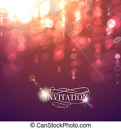 Bokeh light vintage background. Vector illustration.