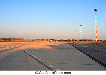 Airport - View of the runway in the airport