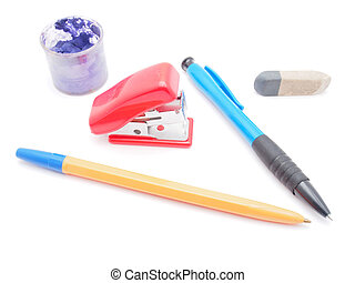 Craft Supplies on a white background