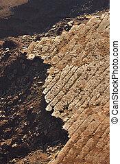 崖, 岩が多い, 航空写真