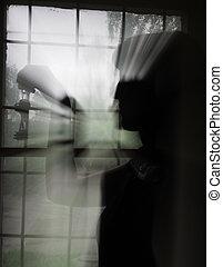 silhouette of a gir