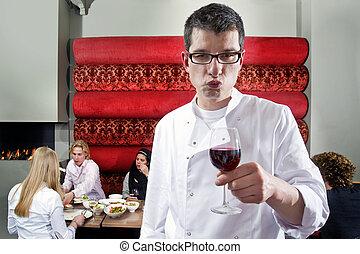 Garçom, vinho