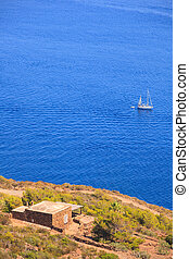 Pantelleria - View of dammuso, tipycal house in Pantelleria,...