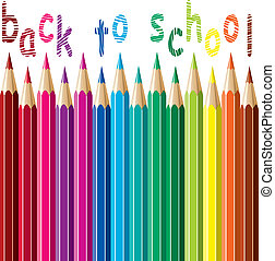 vector colorful pencils background. back to school concept