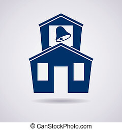 vector icon of school building