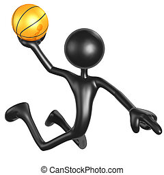 Basketball Calling The Shot Slam - 3D Concept And...