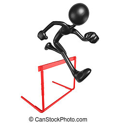 Running Hurdles - 3D Concept And Presentation Figure