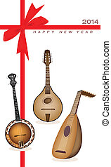 New Year Gift Card of Musical Instrument Strings