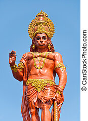 Hanuman statue at Sikkim, India - Hanuman statue at Shri...