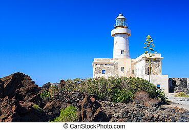 Lighthouse in Pantelleria - View of Lighthouse in the...