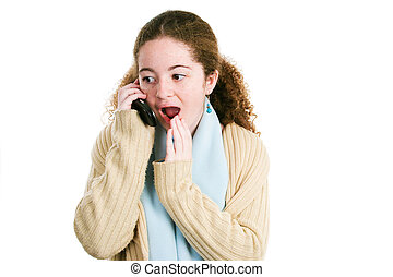 Latina Tween Gossips on the Phone