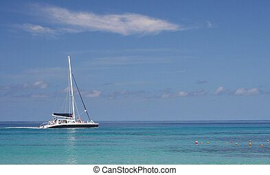 Sailing Catamaran - A typical holiday photo of a catamaran...