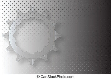 Grunge Cog - A grey grunge background with a series of grey...
