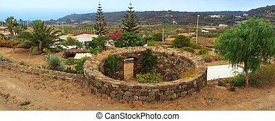 Jardin, Pantelleria - View of tipycal Jardin in Pantelleria,...