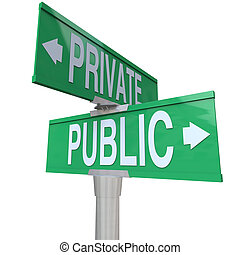 Private Vs Public Two Way Street Road Signs Comparison - Two...