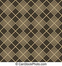 Seamless brown diamond geometrical vector pattern.