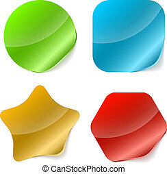 Color rounded blank stickers