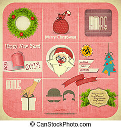 Old Christmas New Years card