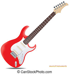 Electric guitar - The red semi-hollow electric guitar...