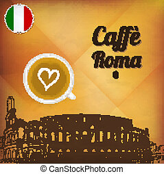 Cafe Roma - EPS10 - This illustration contains a...