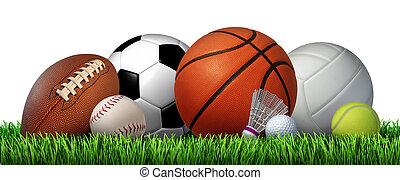 recreação, lazer, esportes