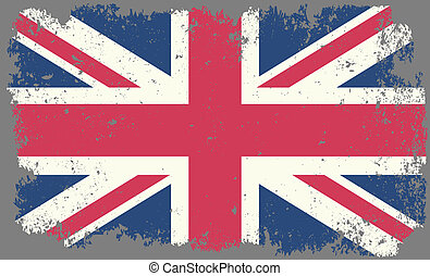 Great Britain - grunge faded flag of Great Britain