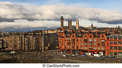Looking West From Garnet Hill, Glasgow - Looking West from...