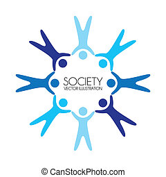 society design over white background vector illustration