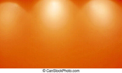 Empty orange wall with lights