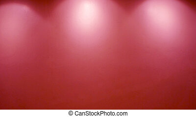 Empty red wall with lights