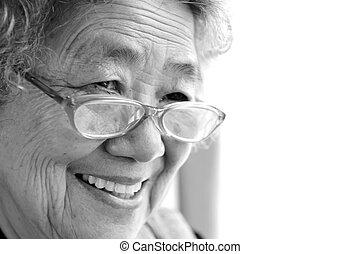 happy grandmother