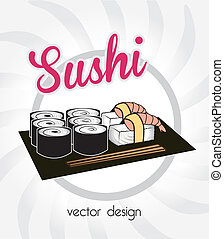 sea food over white background vector illustration