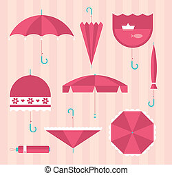 umbrella icons - Vector umbrellas