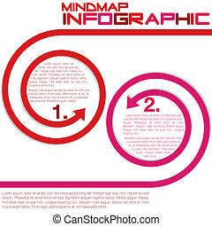 Infographic - Bright infographic arrows in vector format.
