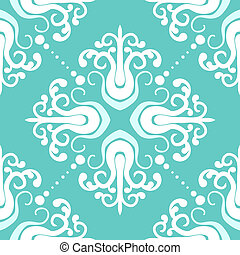 Vintage pattern with damask motifs